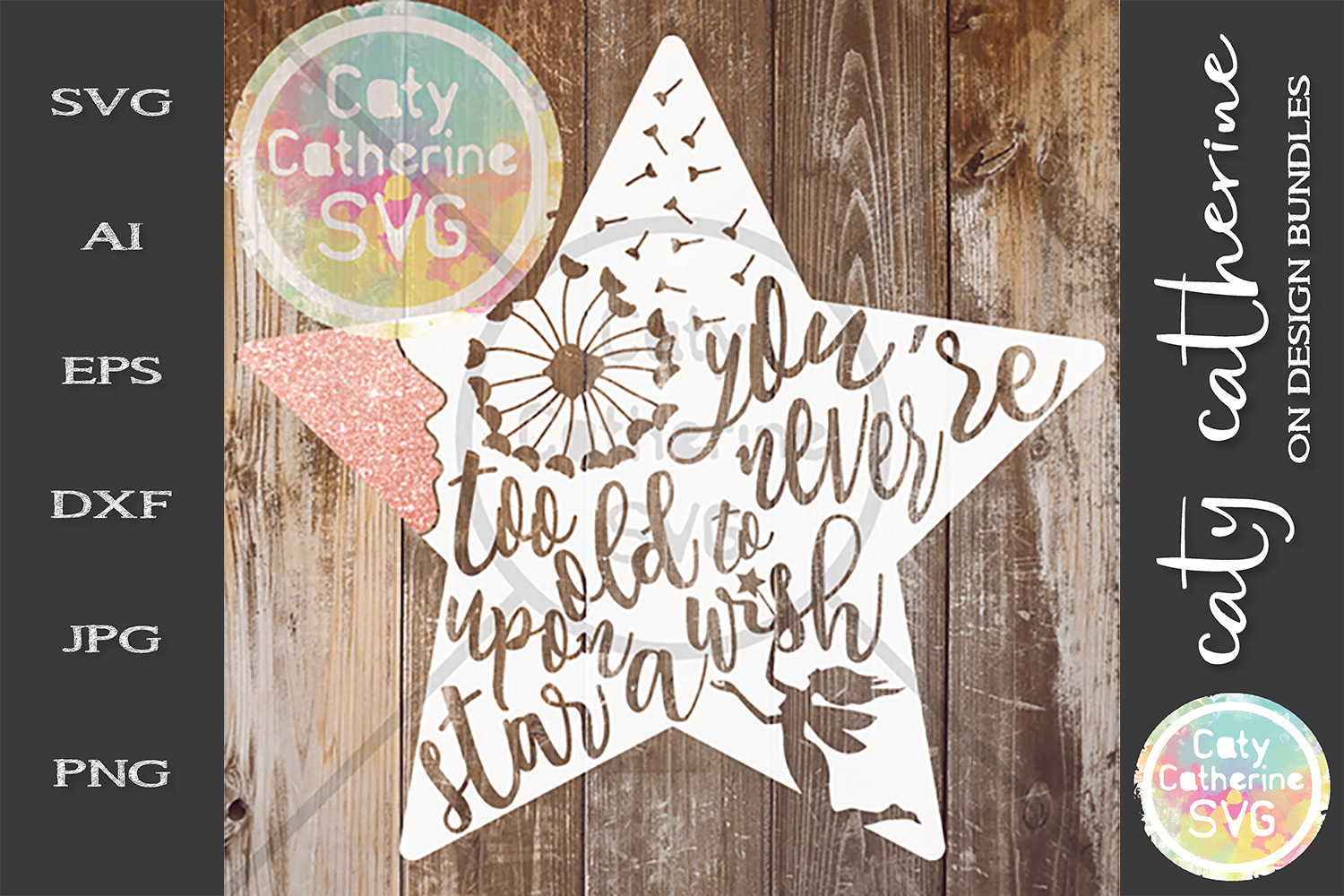 You're Never Too Old To Wish Upon A Star SVG Cut File example image 1