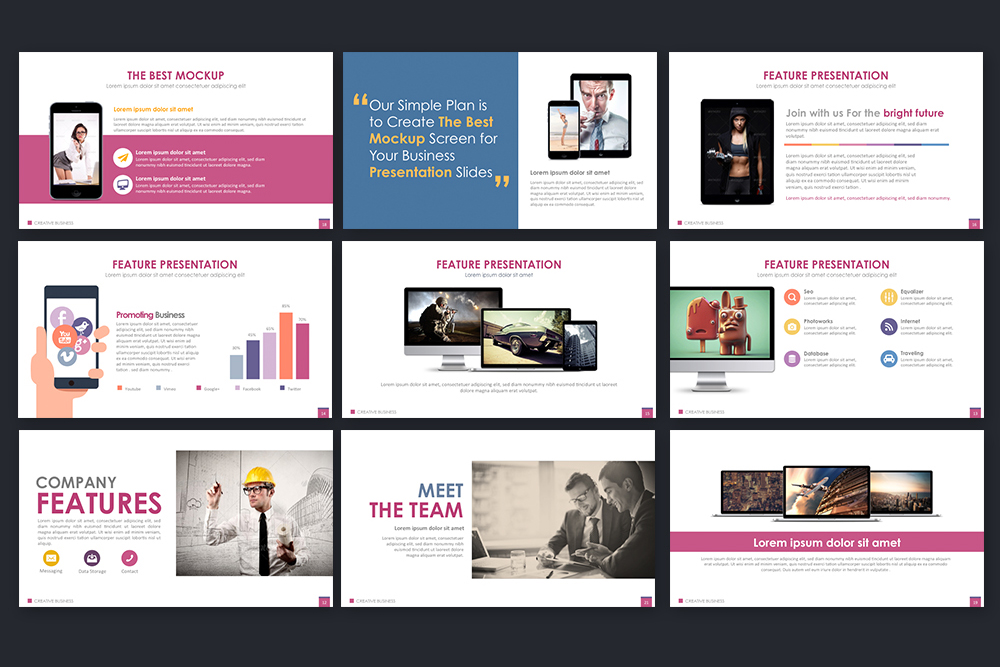 Creative Business Powerpoint Template example image 5