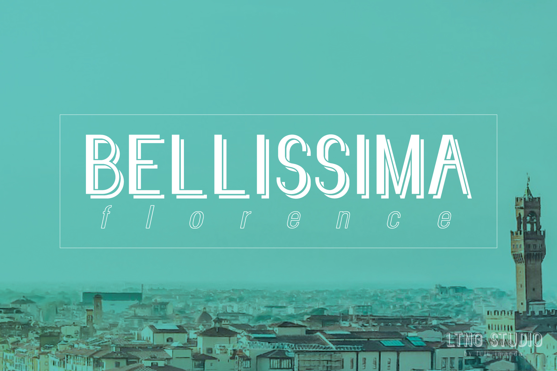 FLORENCE font family example image 4