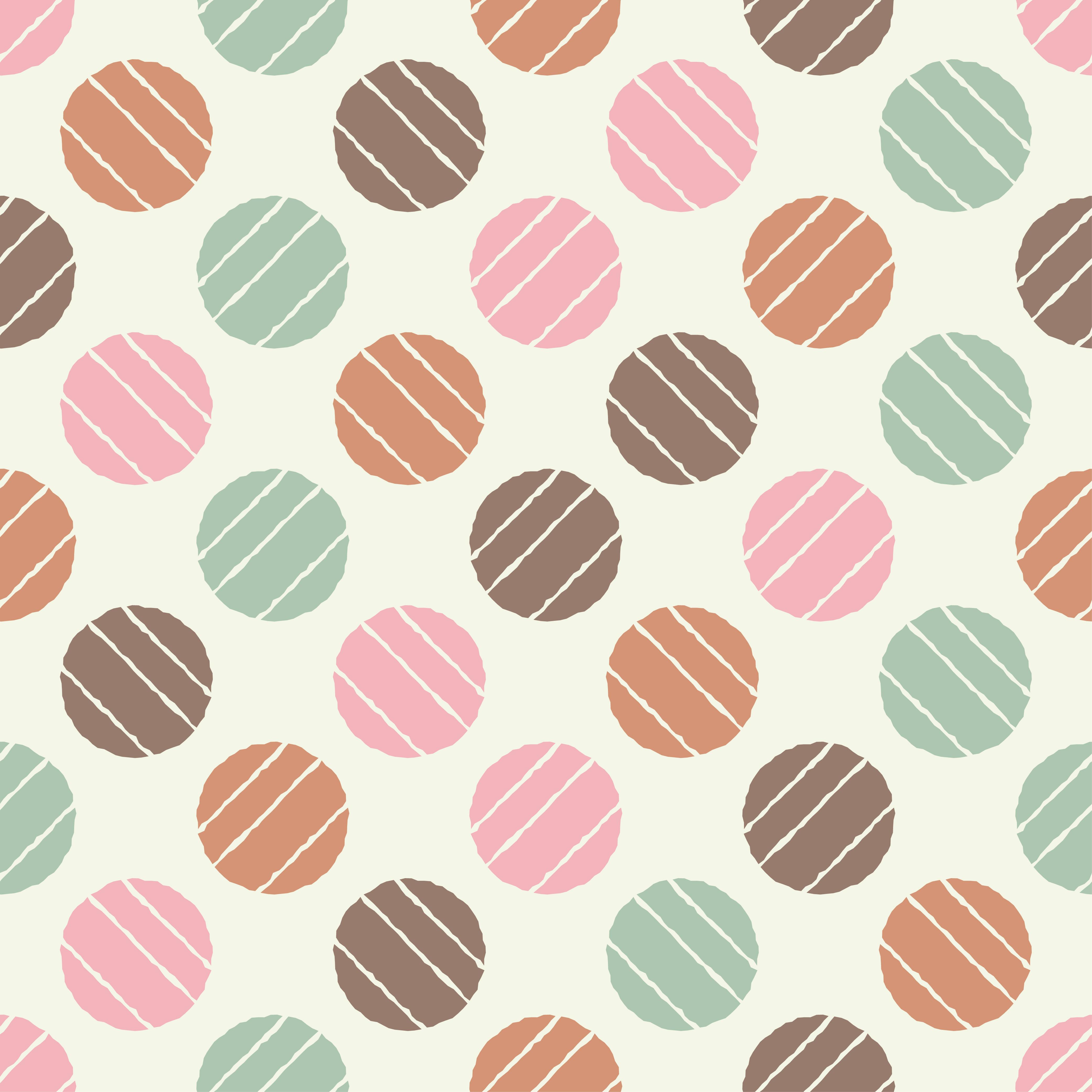 Polka dot seamless pattern. Sketch texture.  example image 6