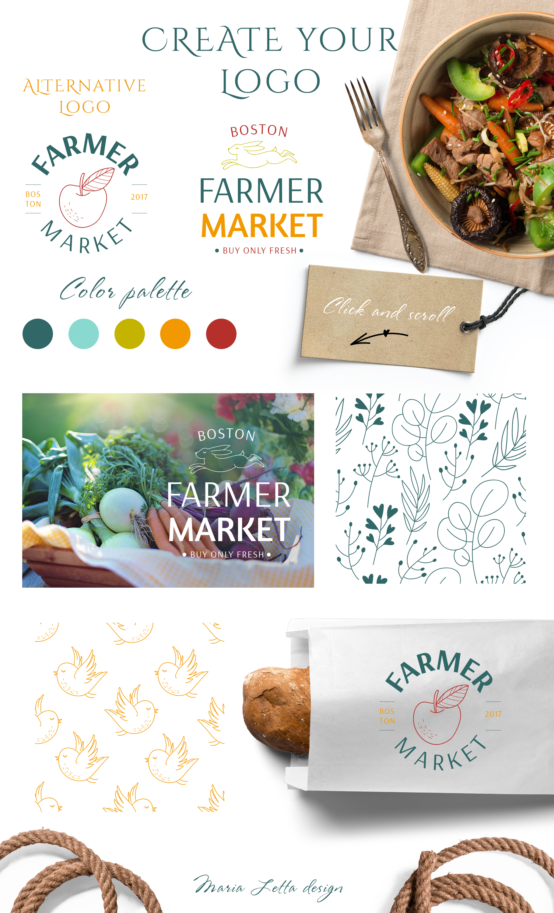 Simple things branding set example image 9