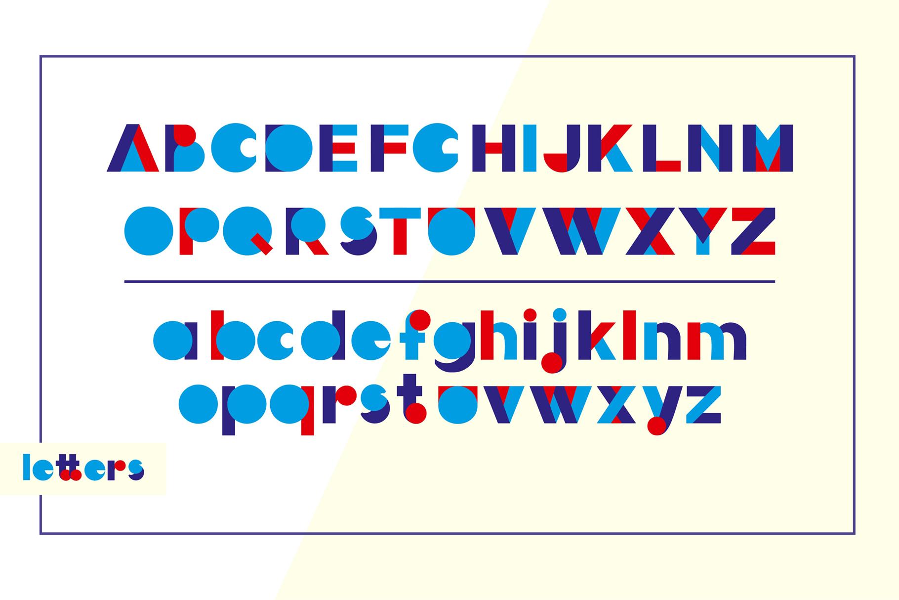 LOVE-BIRDS multicolor font example image 2