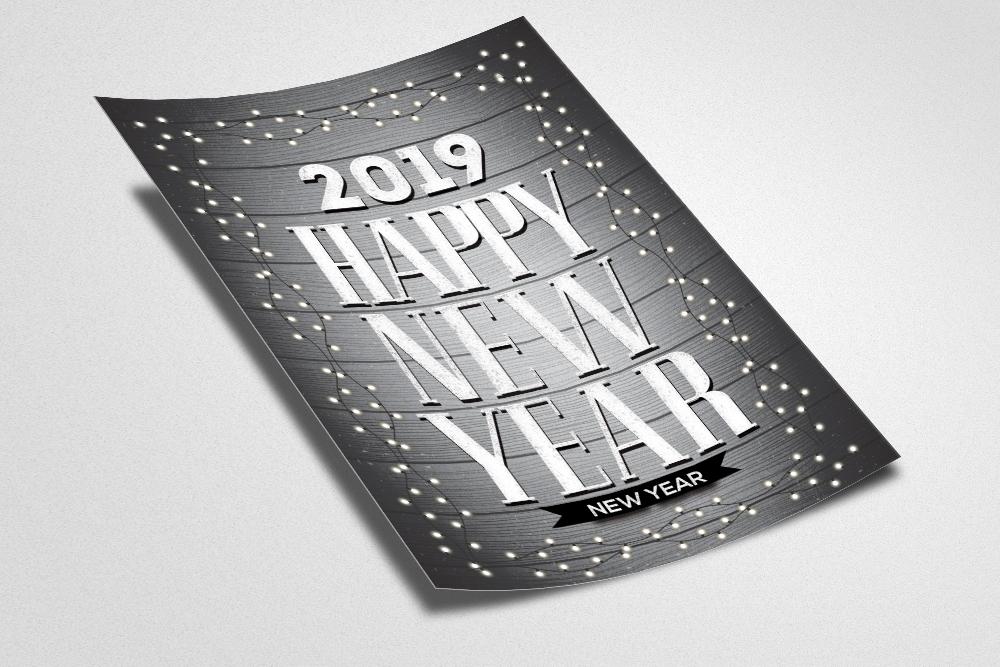 Happy New Year Celebration Flyer example image 2