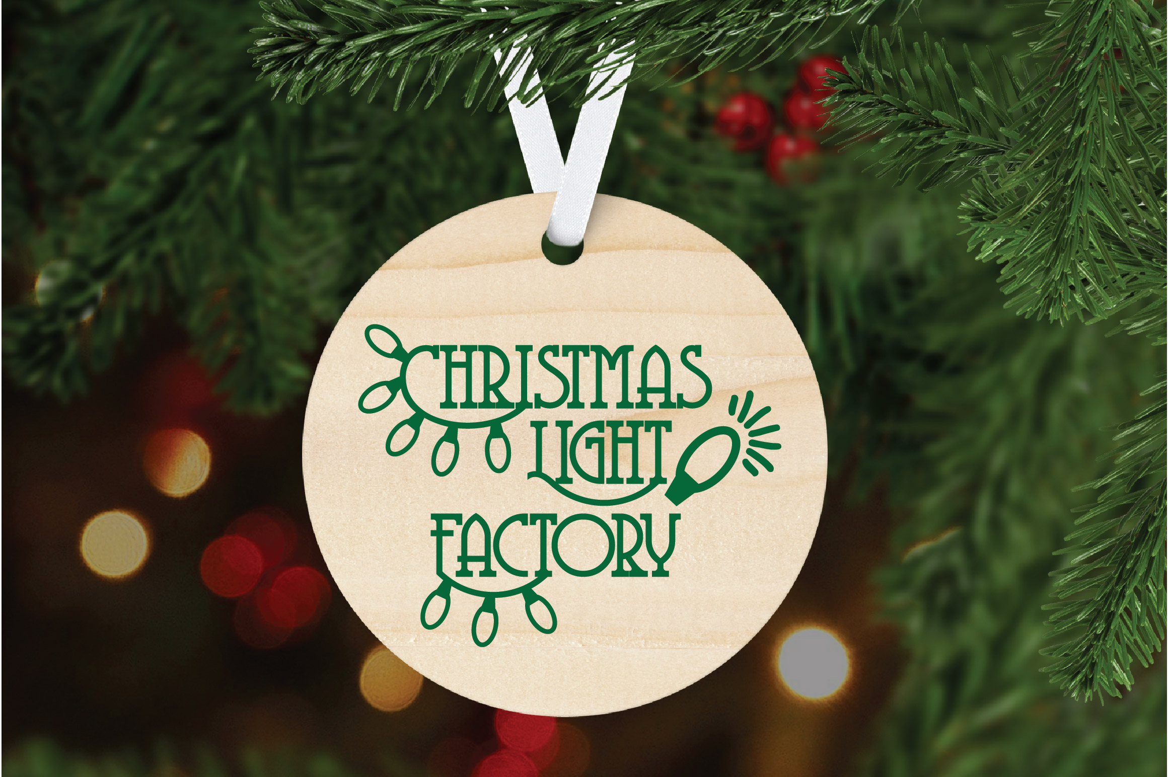 Christmas SVG Cut File - Christmas Light Factory SVG DXF PNG example image 7
