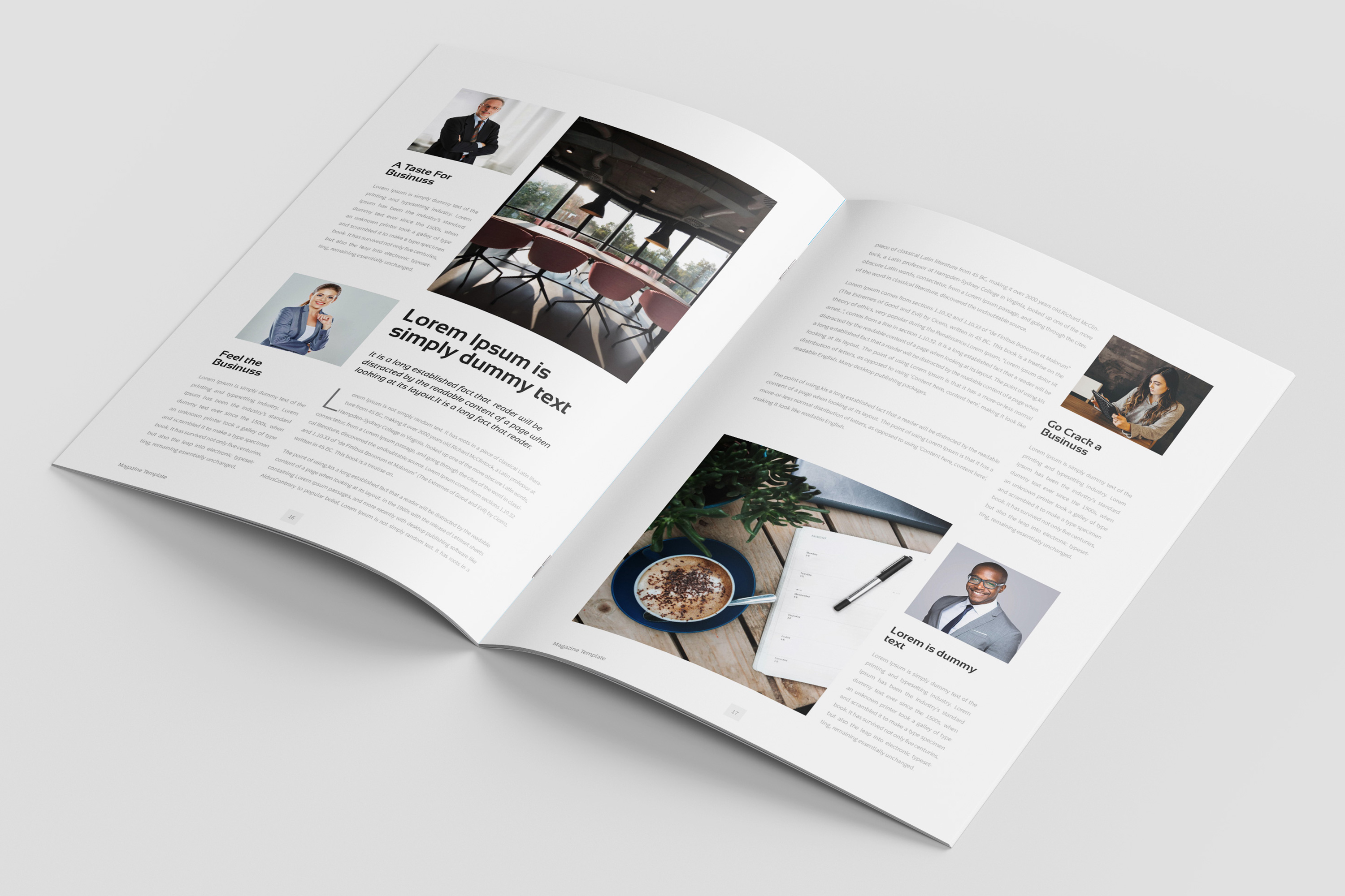 Business Magazine Template example image 8