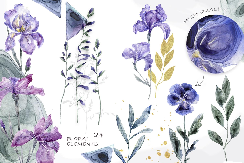 Botanical Garden Watercolor Set example image 3