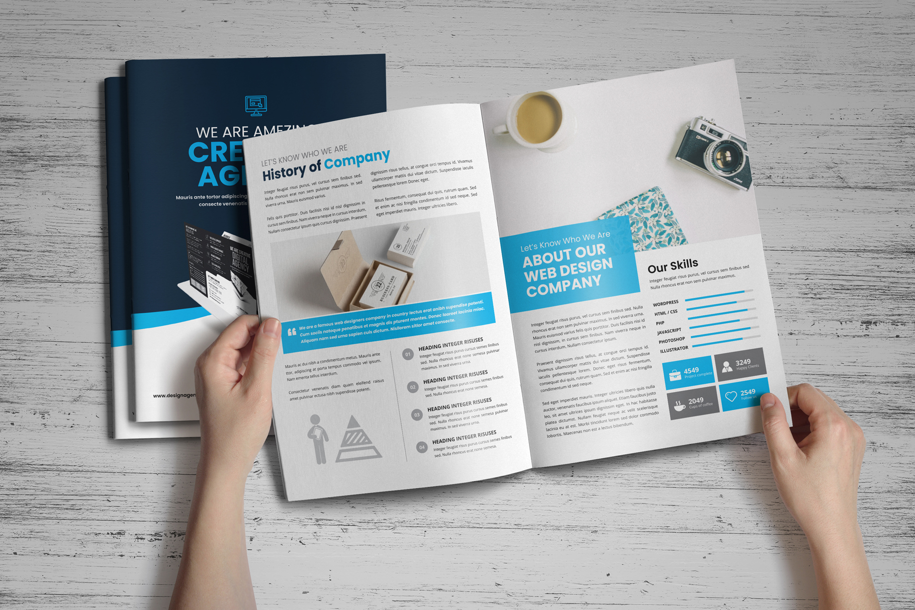 Portfolio Bifold Brochure Design v1 example image 10