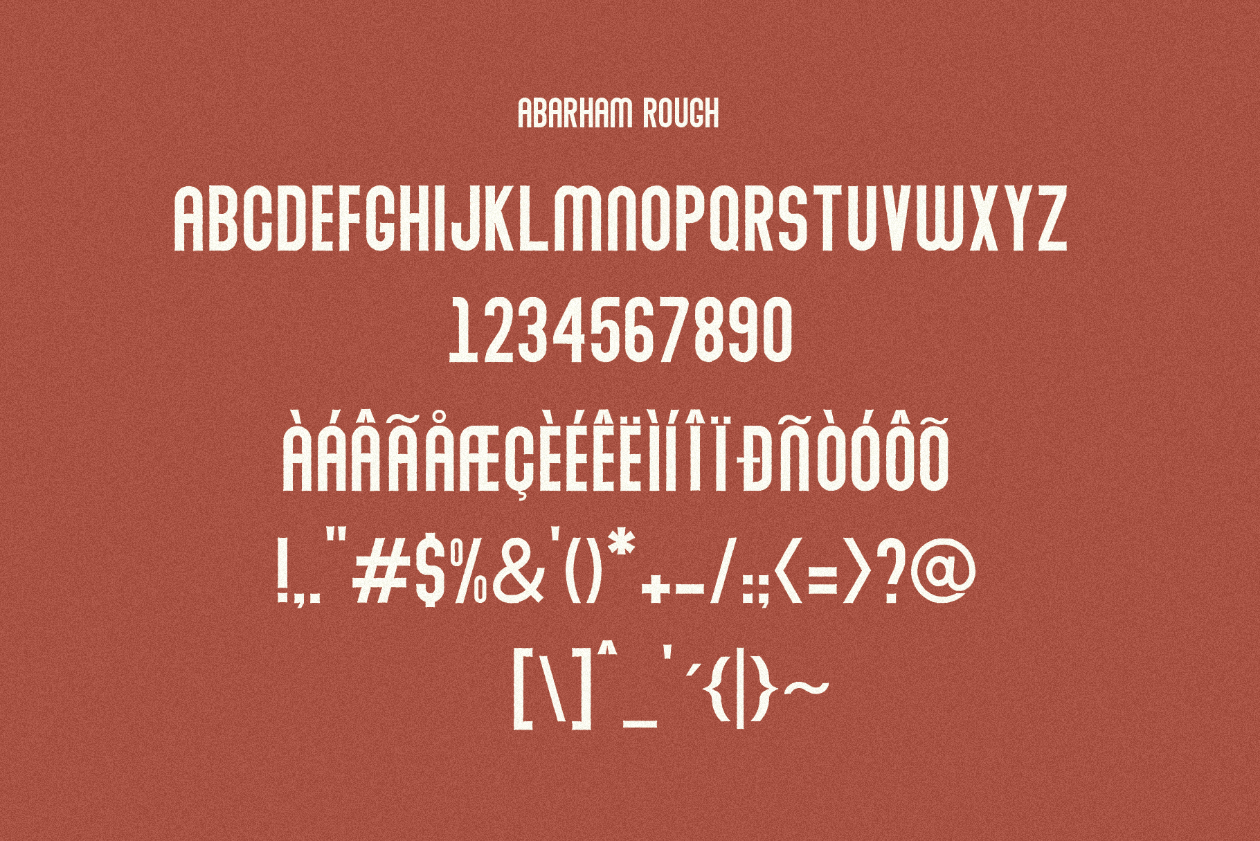 Abraham Font Family 7 Style Fonts example image 10