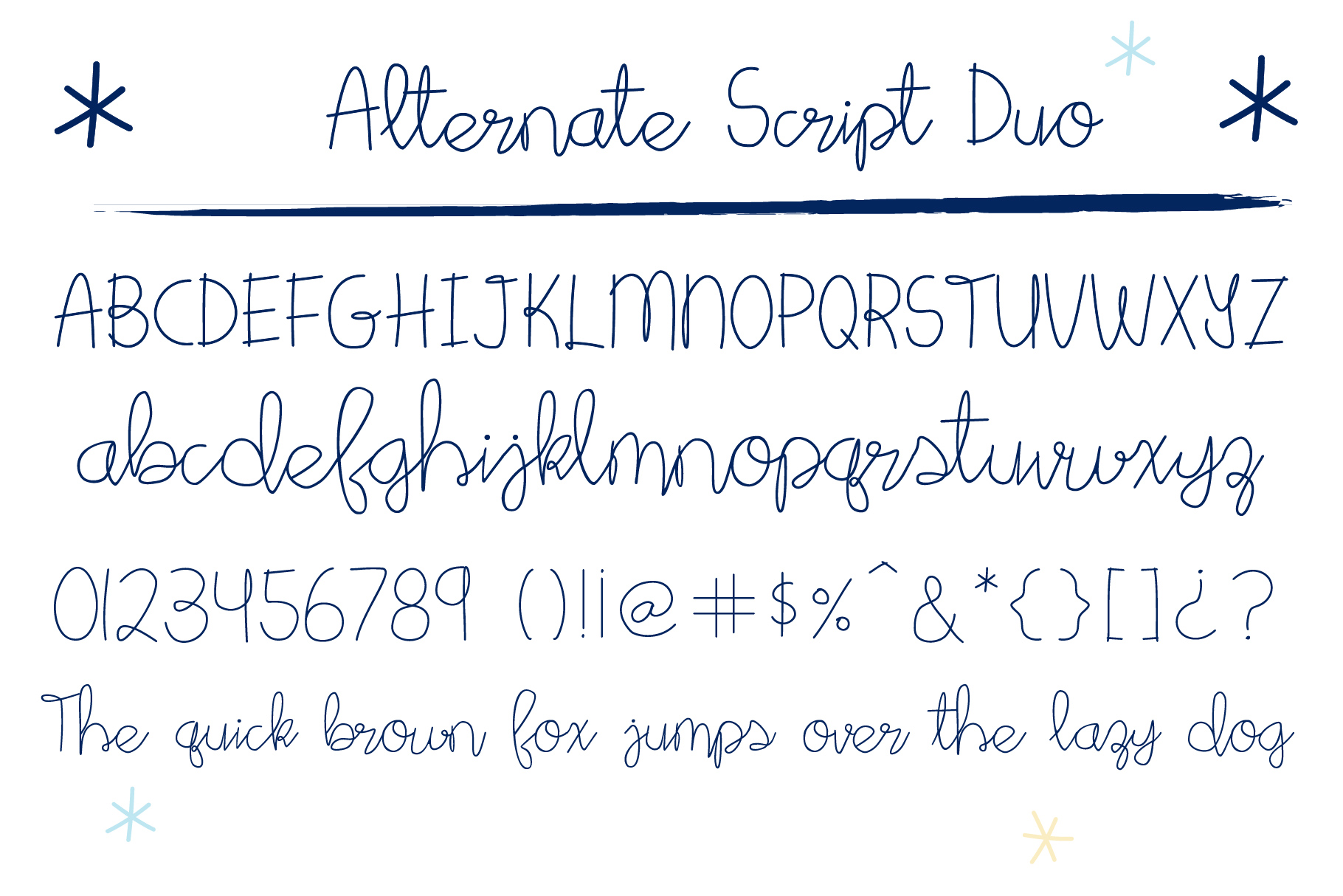 Star Bright Moon Light Font Duo example image 7