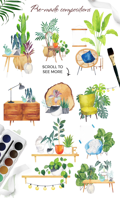 Scandi house plants interior creator example image 8
