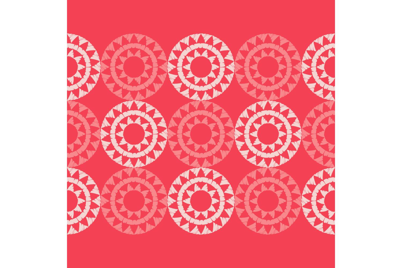 Polka dot ornament. Set of 10 seamless patterns. example image 10