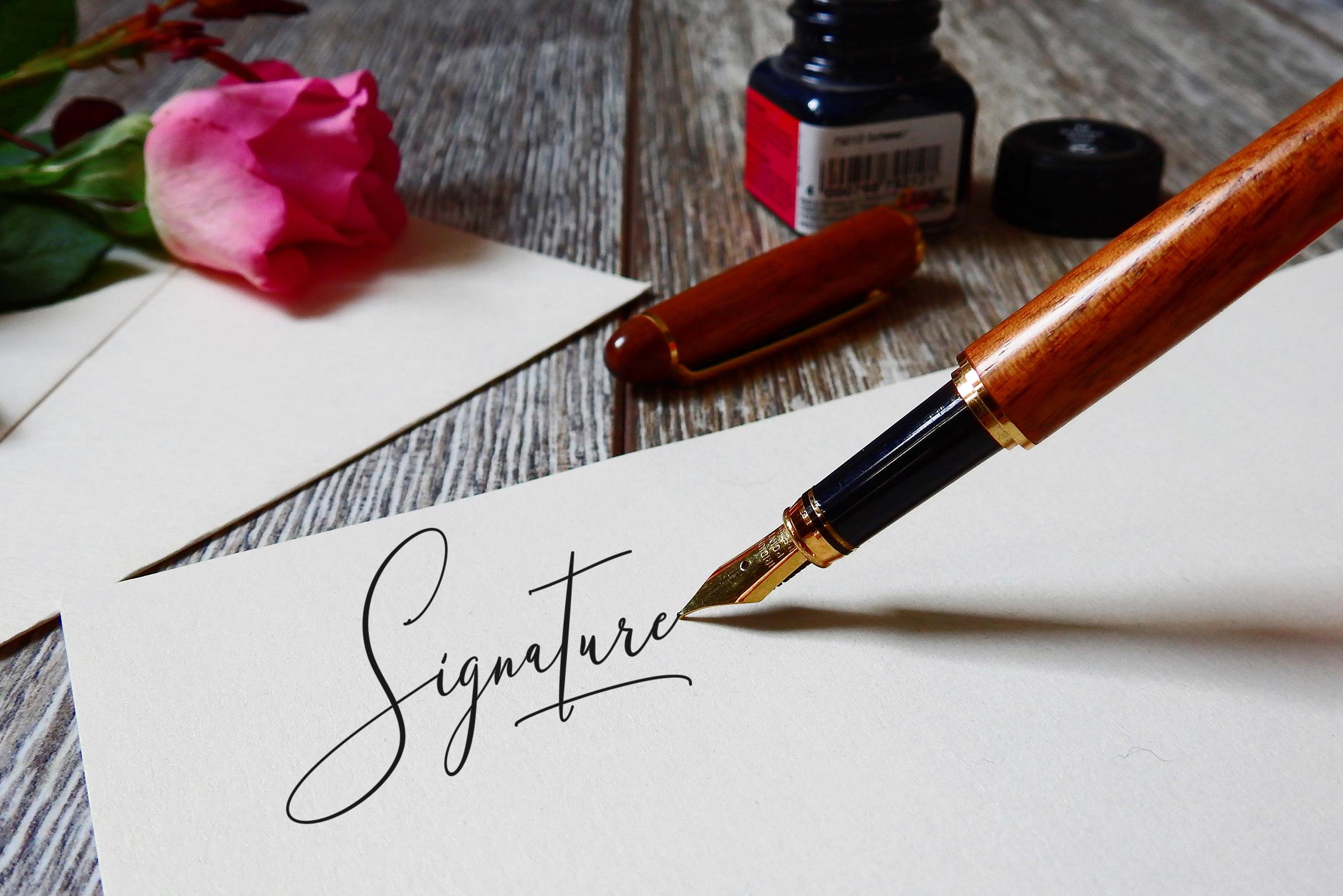 NicoleWhite Signature Font -Big Update - example image 9