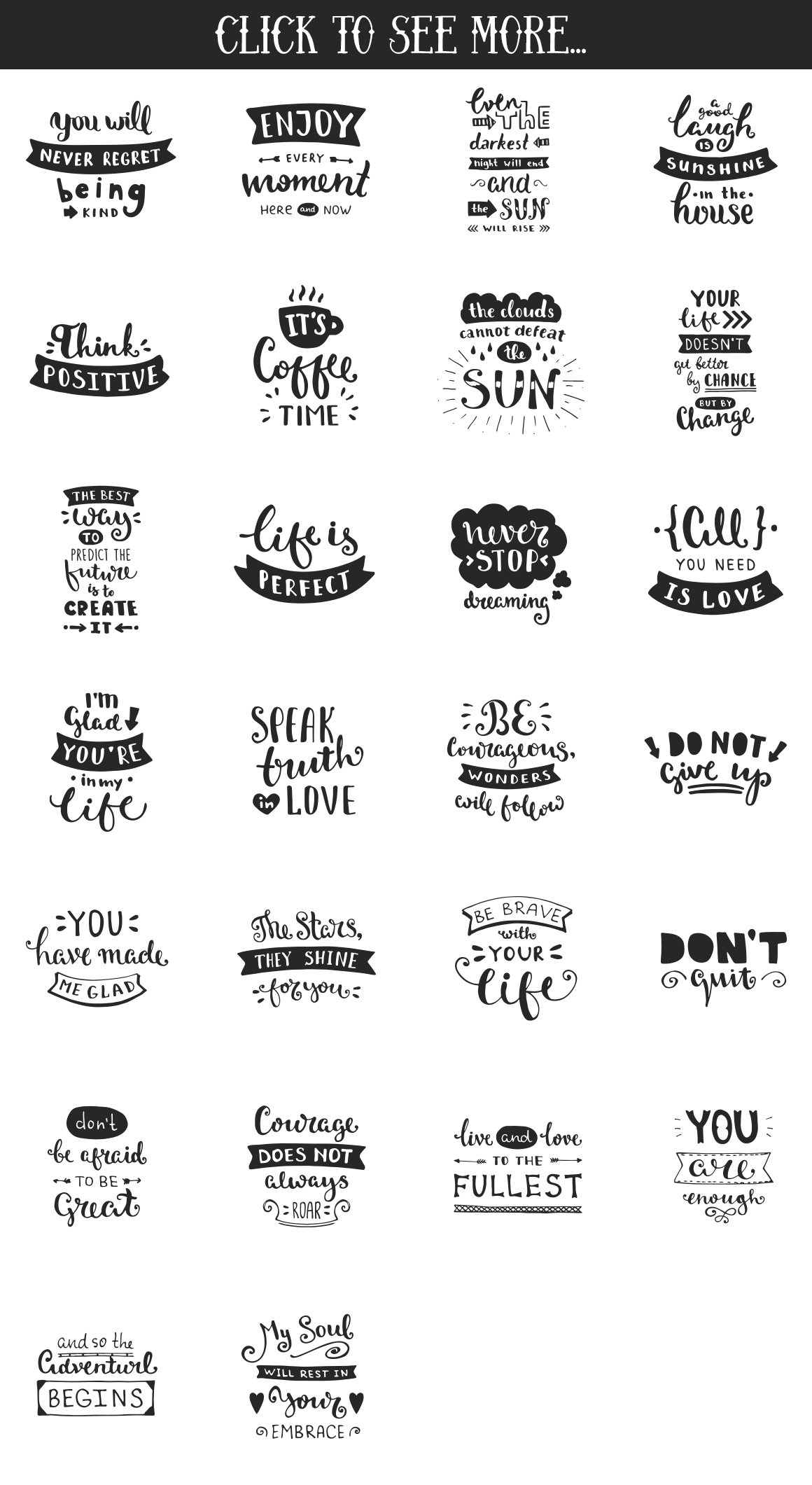 26 Hand Lettering Phrases & Posters example image 2