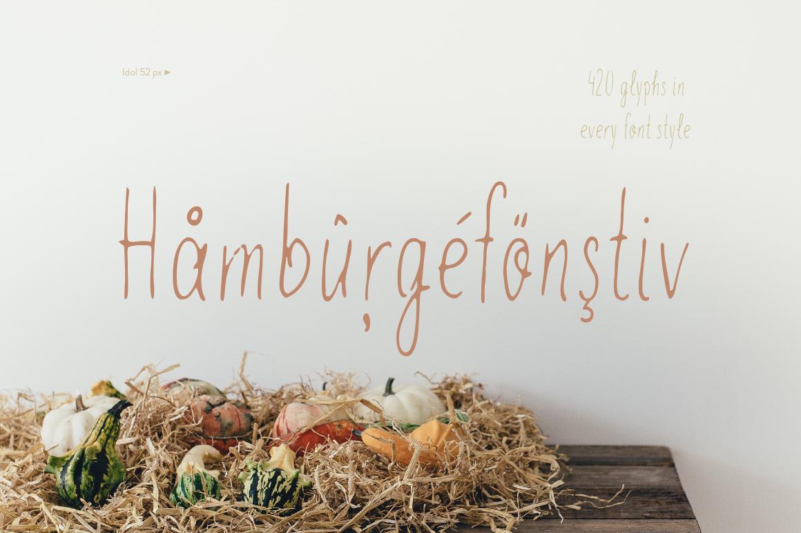 Idol—handwritten font example image 3