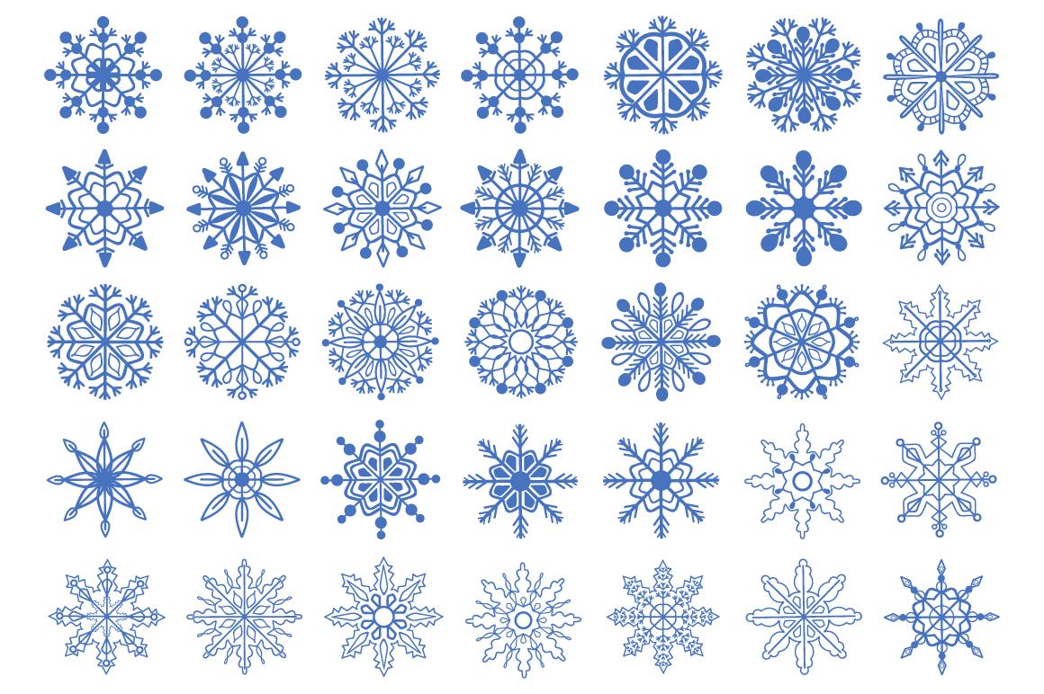 Christmas fantasy. Set snowflakes. example image 2