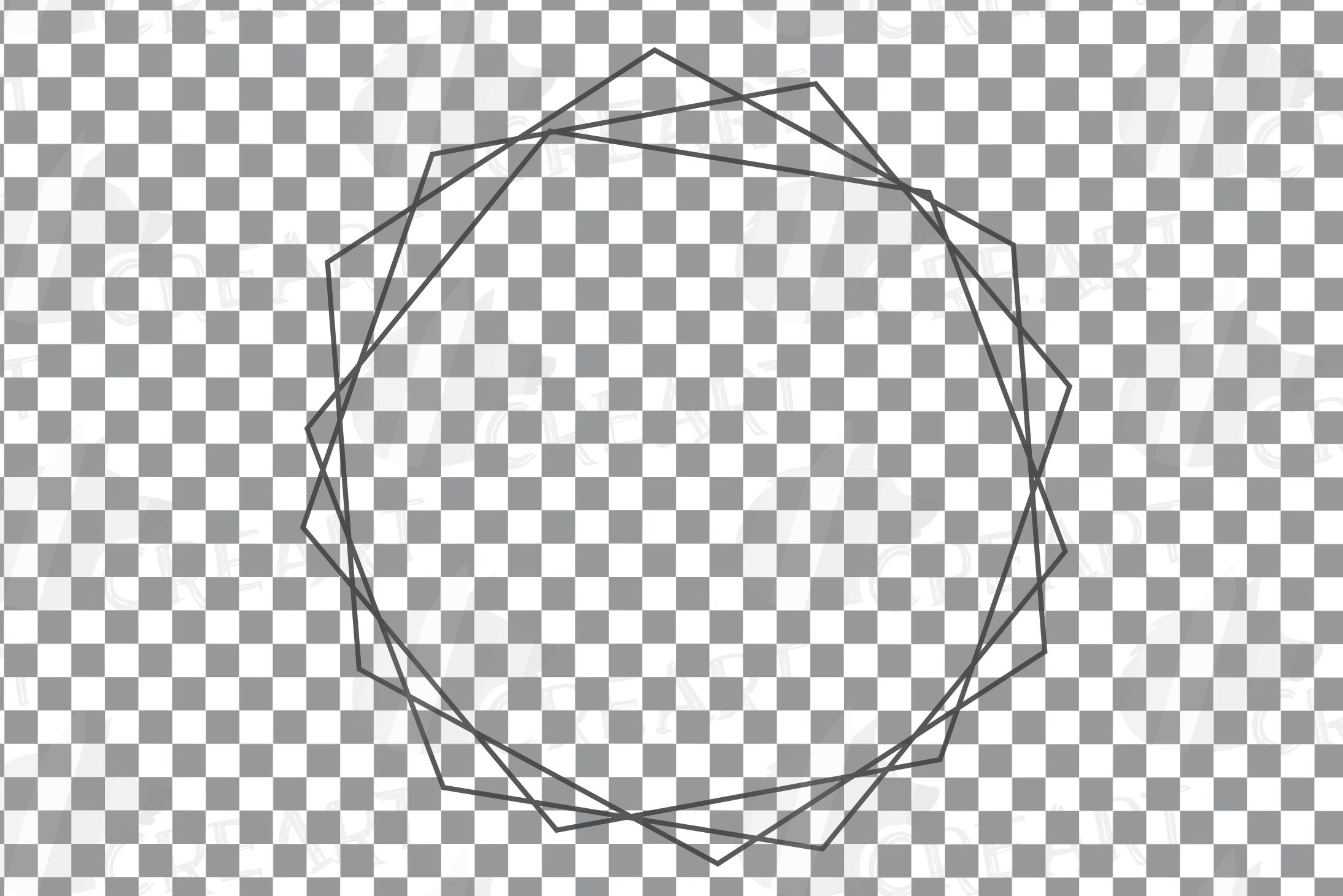 Geometric lineal black frames decor clip art. Wedding border example image 8