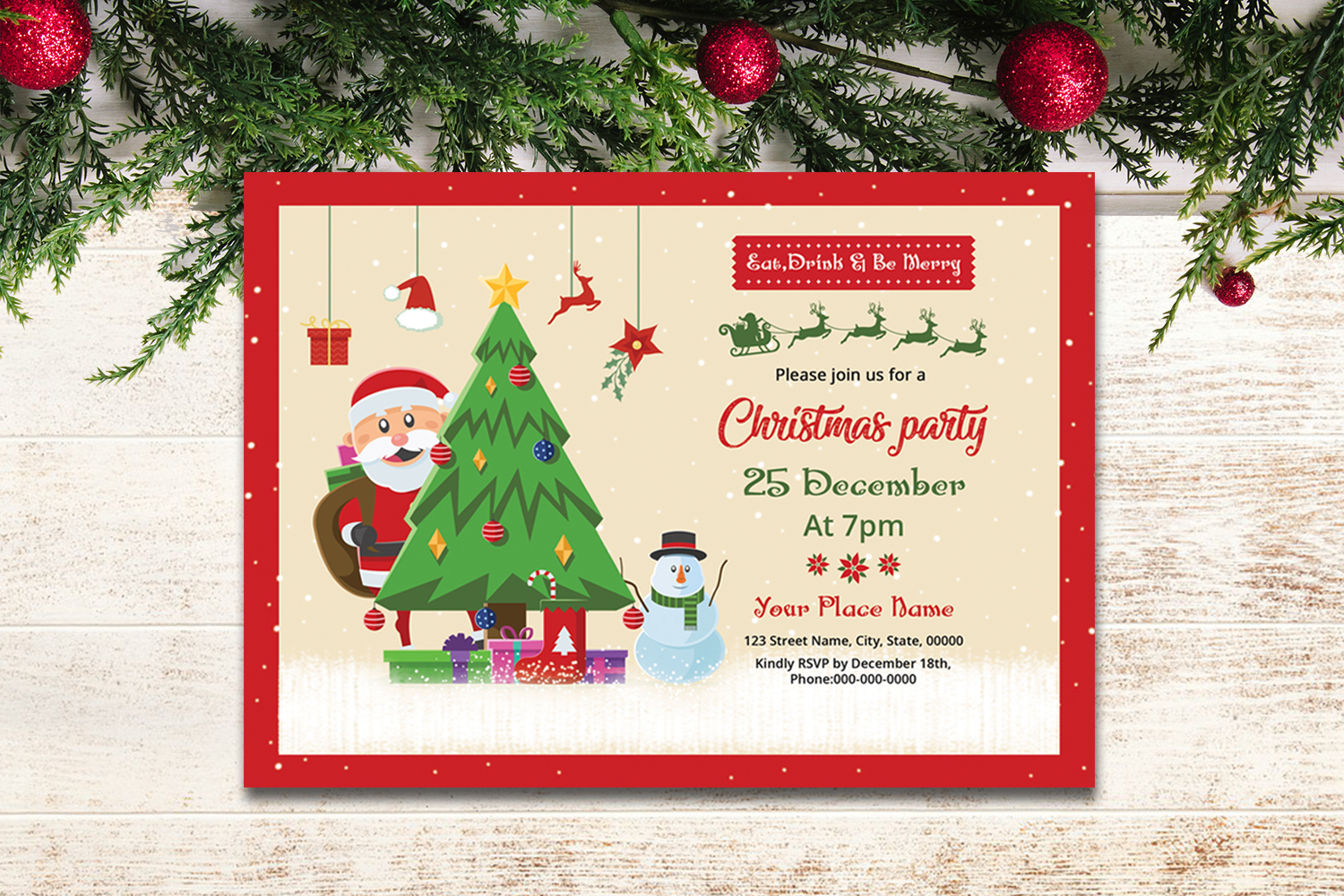 Christmas Party Invitation example image 3