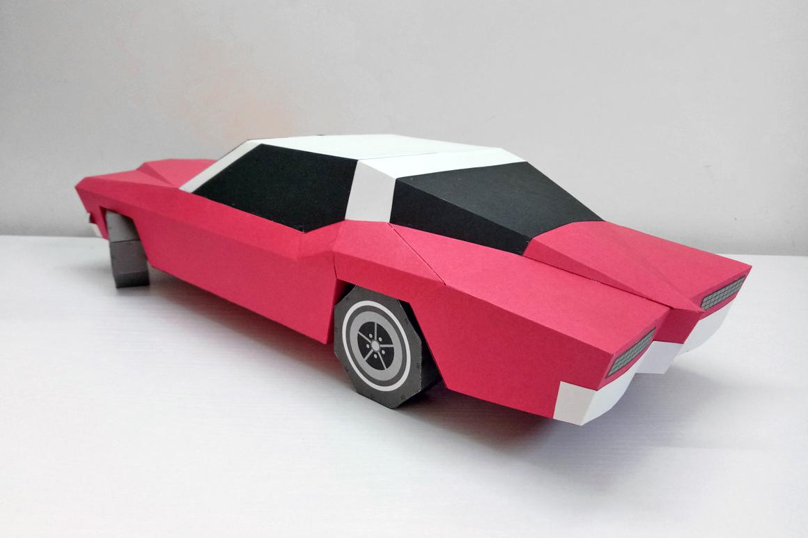 DIY Classic Car - 3d papercraft example image 2
