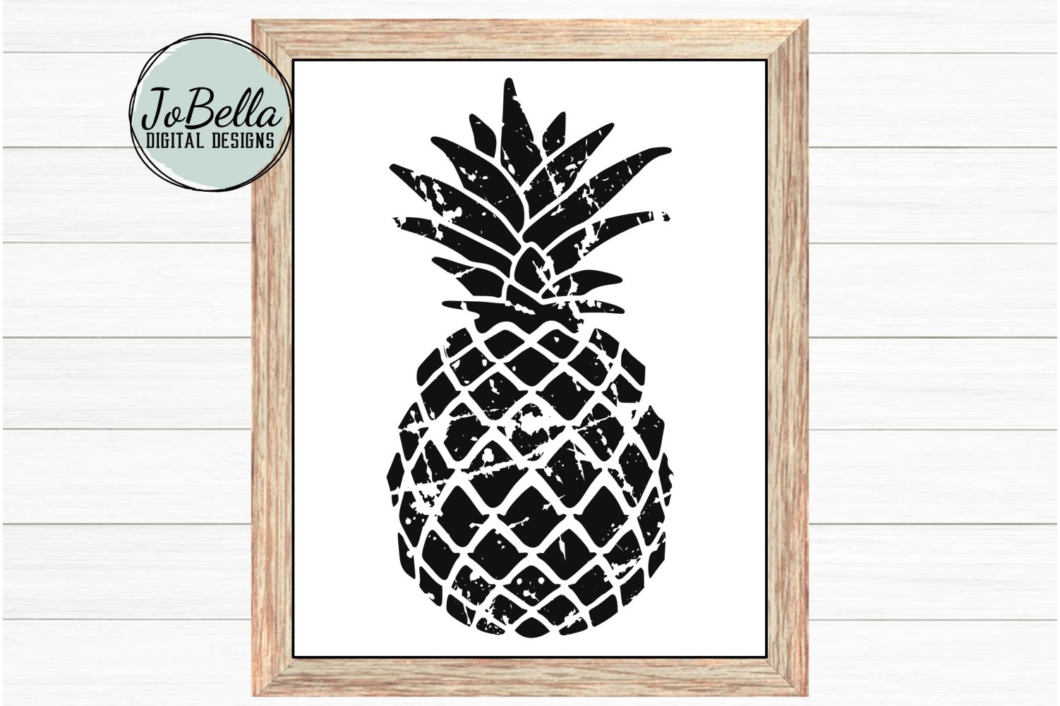 Distressed Pineapple SVG and Printable example image 2