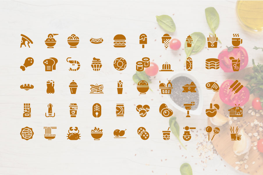 200 Food and Beverage Icon Pack example image 3