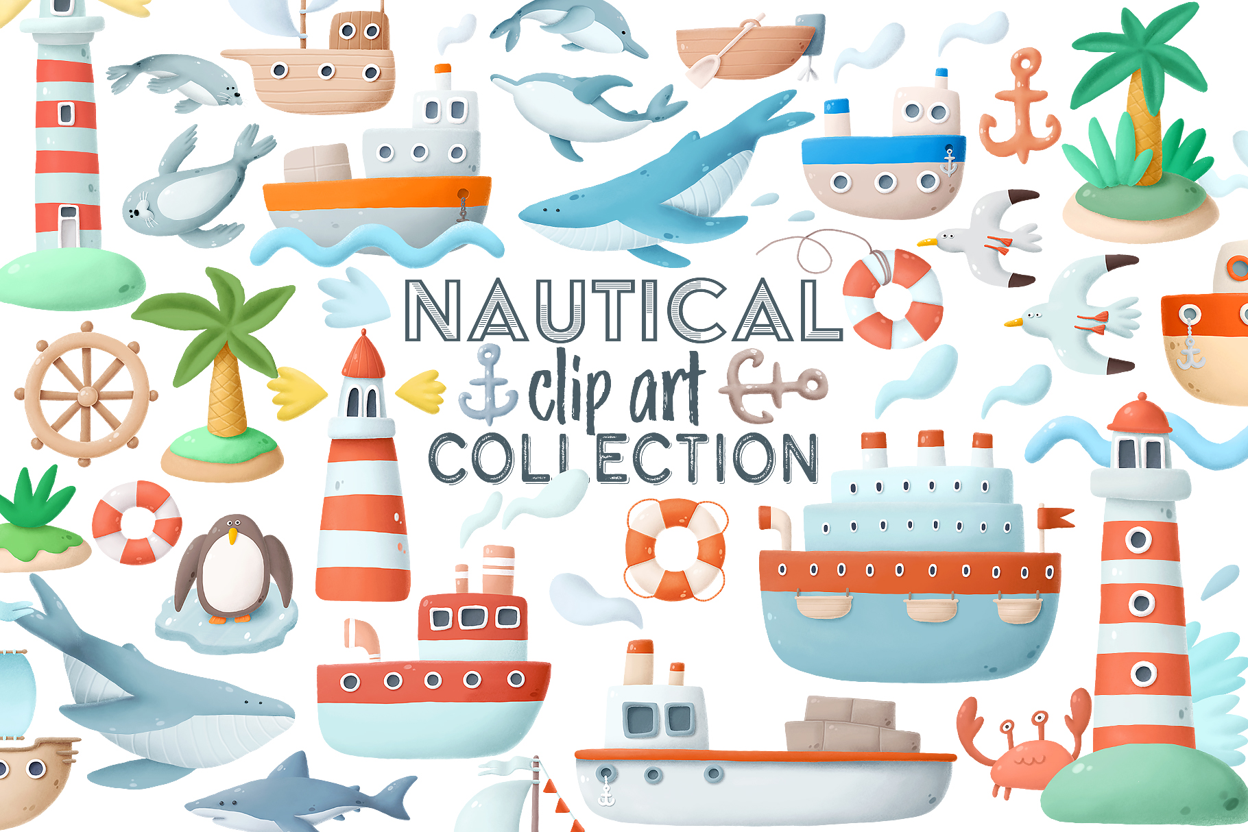 Nautical clip art collection example image 5