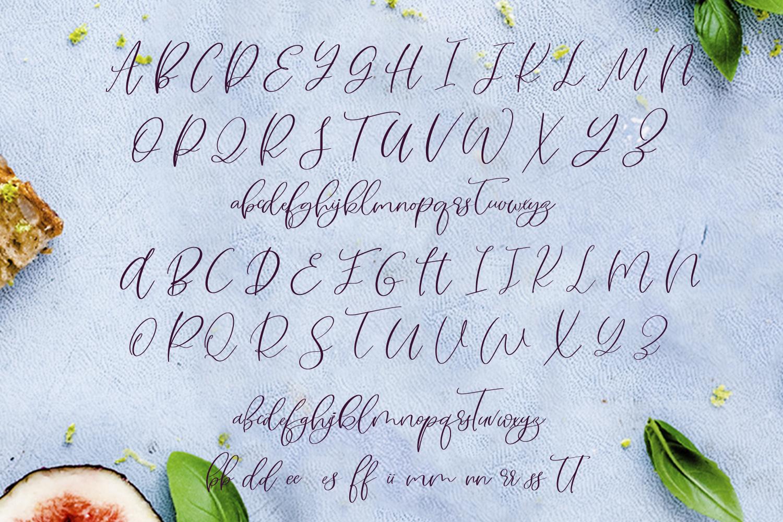 Figs Pie Script Font example image 9