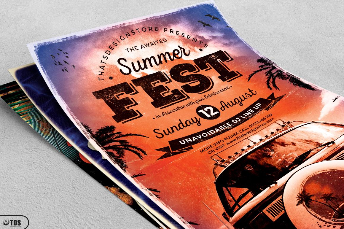 Summer Fest Flyer Bundle example image 4