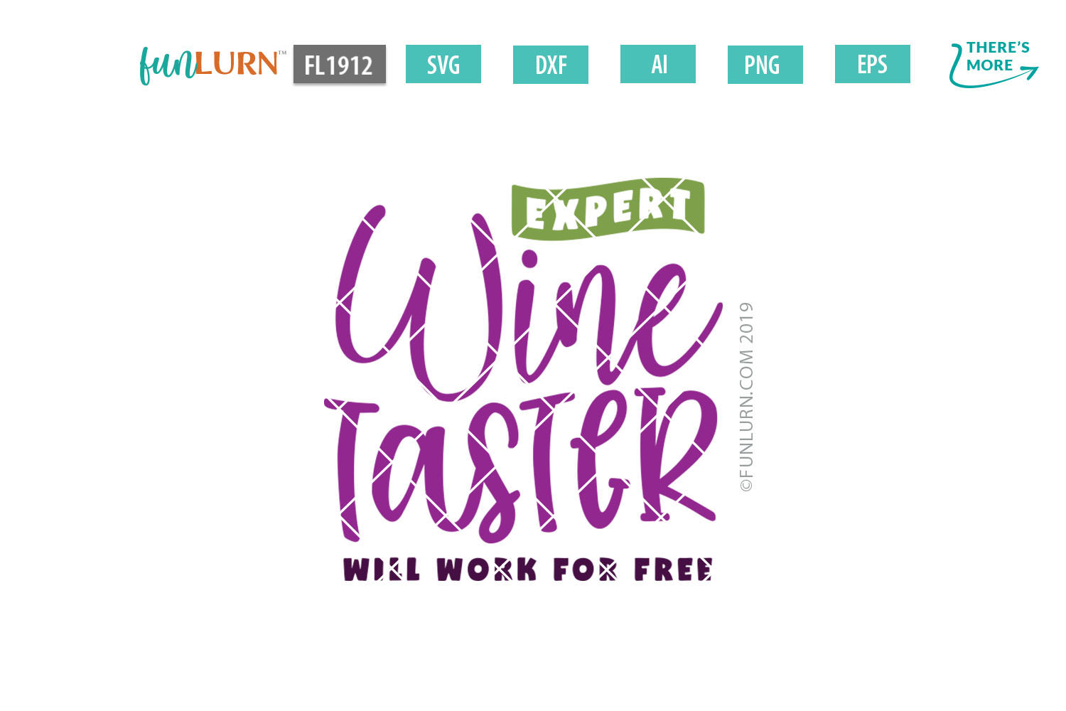 Expert Wine Taster Will Work For Free SVG Cut File example image 2