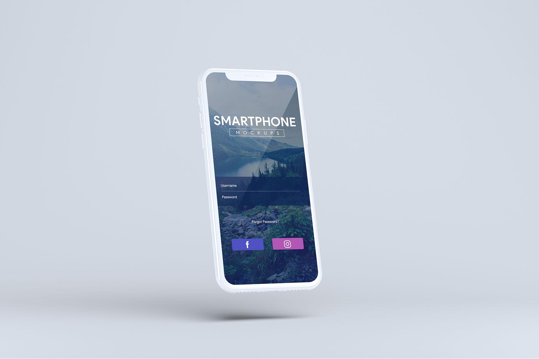 Smartphone Mock-Ups example image 8