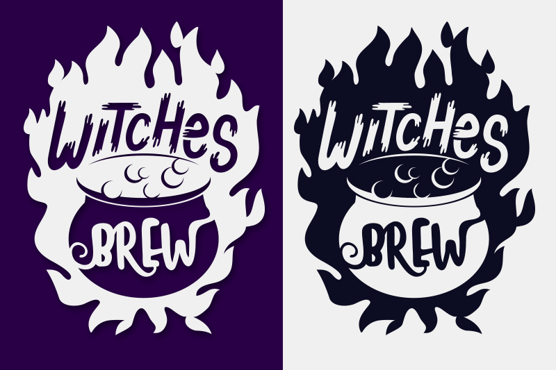 Witches Brew Halloween SVG Papercut File example image 2