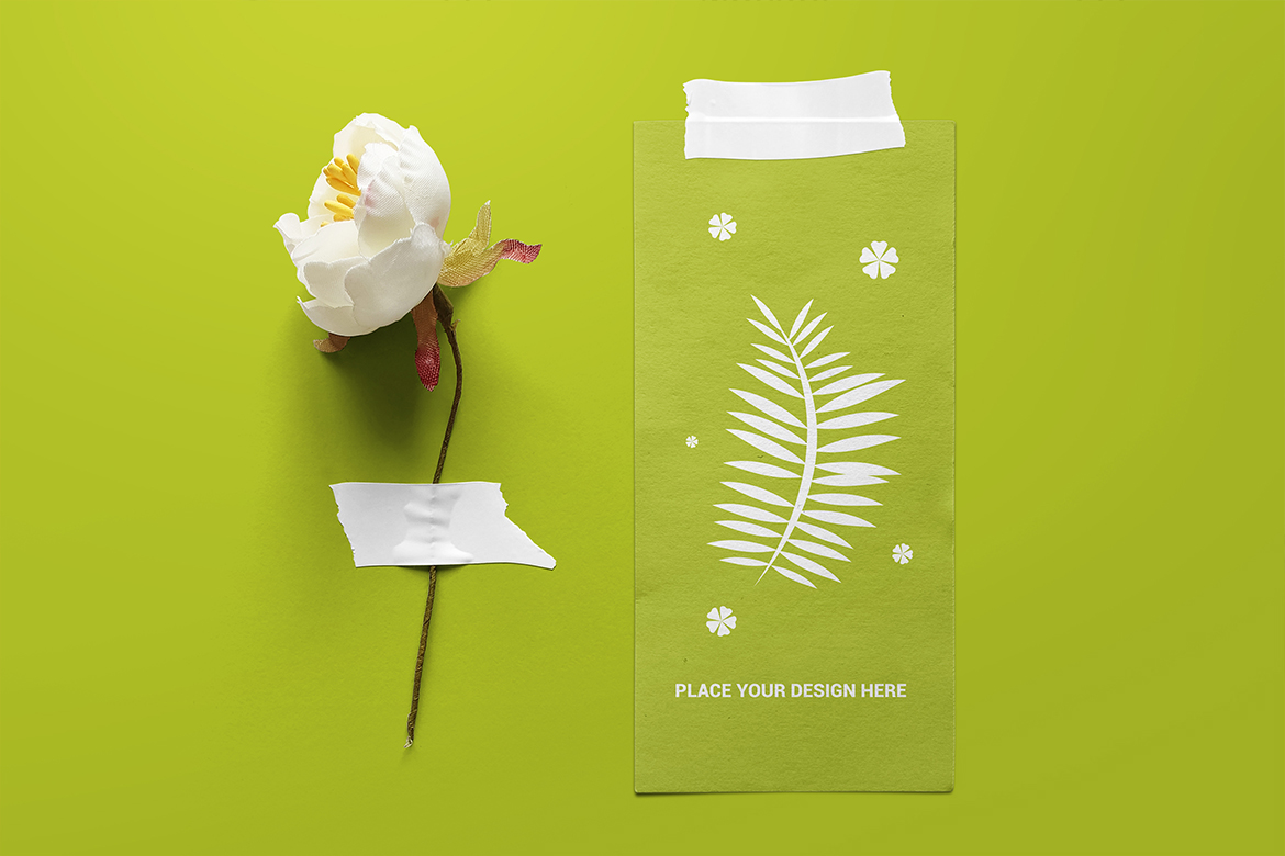 Taped Paper Mockup example image 6