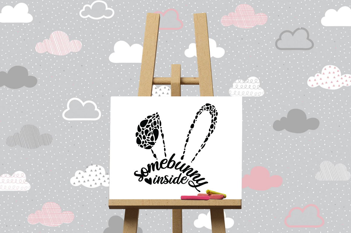 Pregnancy Announcement SVG Cut Files - Somebunny inside example image 3