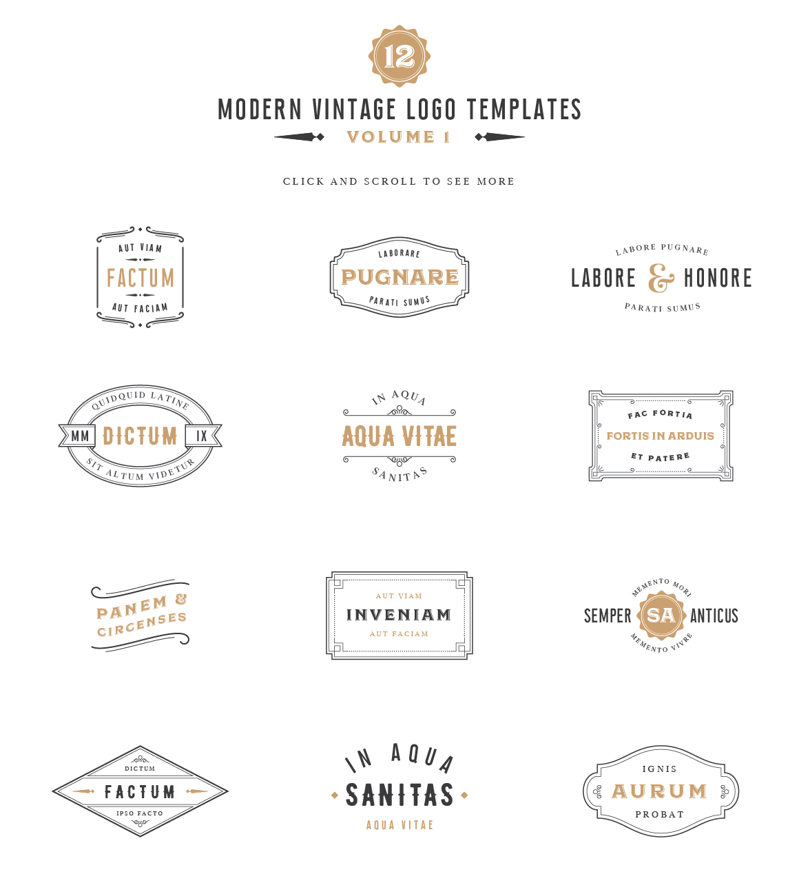 Vintage Label & Logo Templates example image 1