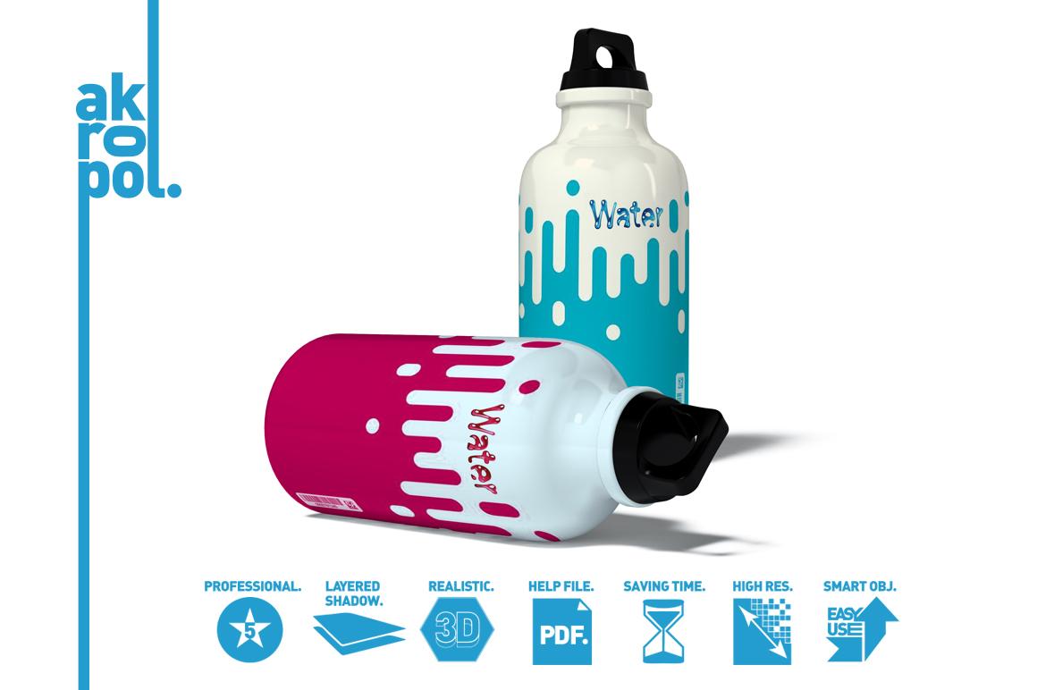 Water Bottle Mock-up example image 5