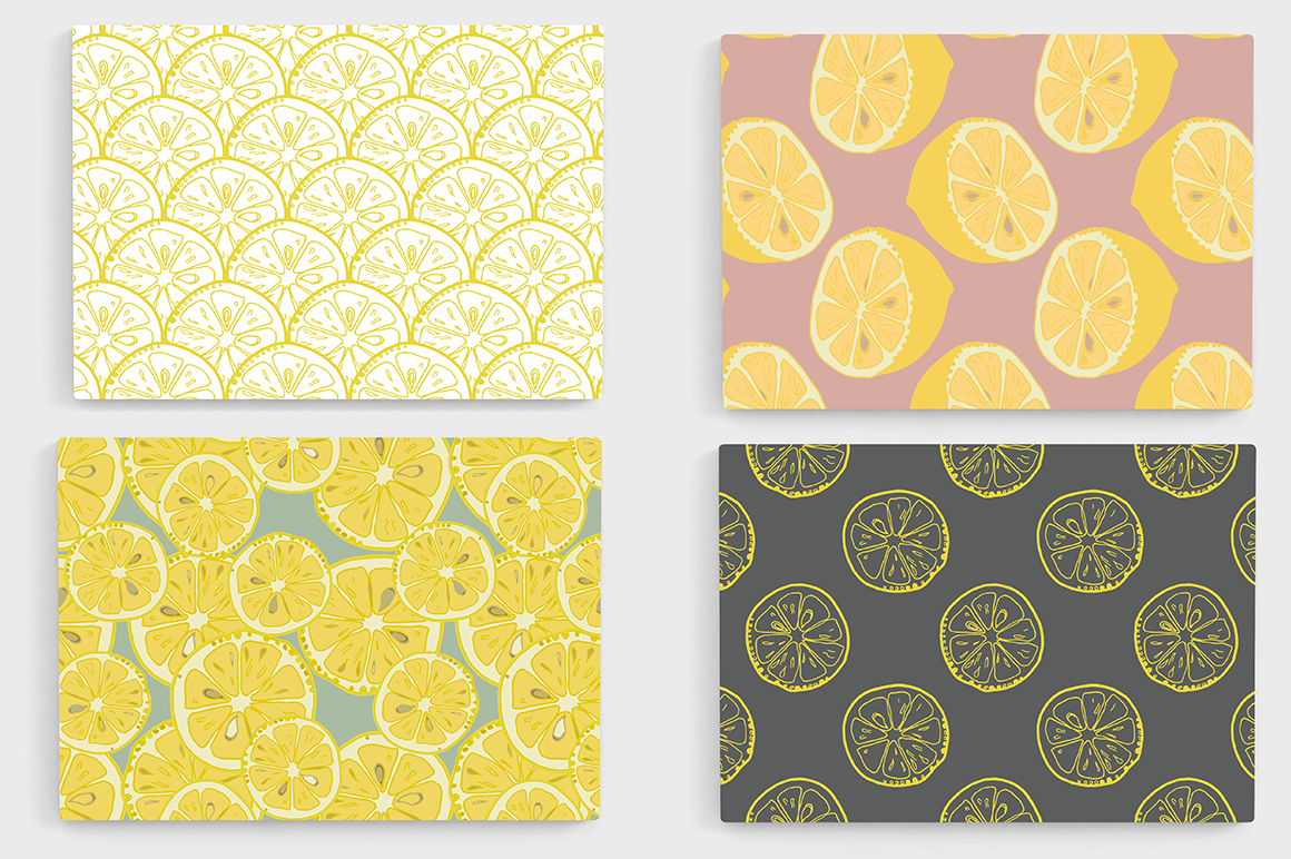 Lemons collection (158 vector and raster files) : 4 Patterns, 4 clipart Alphabets (144 png, 4 eps). example image 13