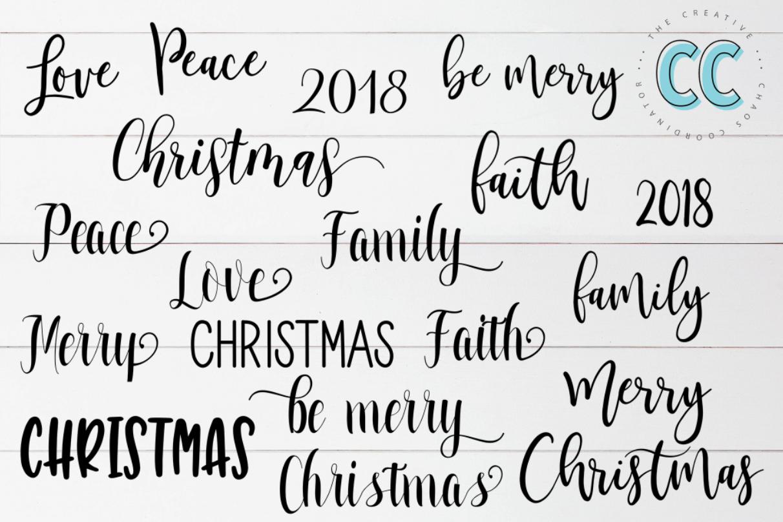 Christmas Overlay Words example image 2