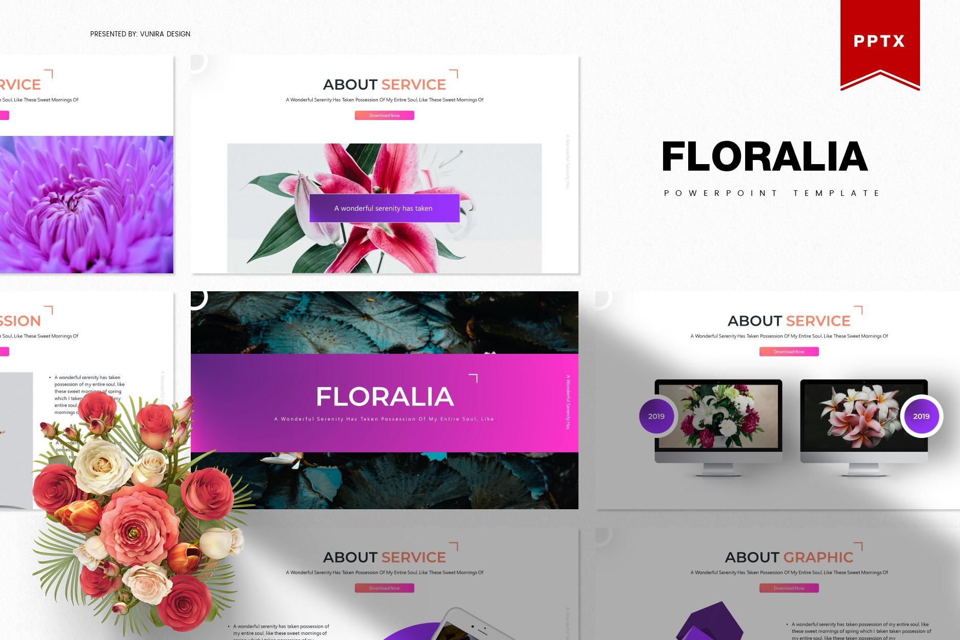 Floralia | Powerpoint, Keynote, GoogleSlides Template example image 2