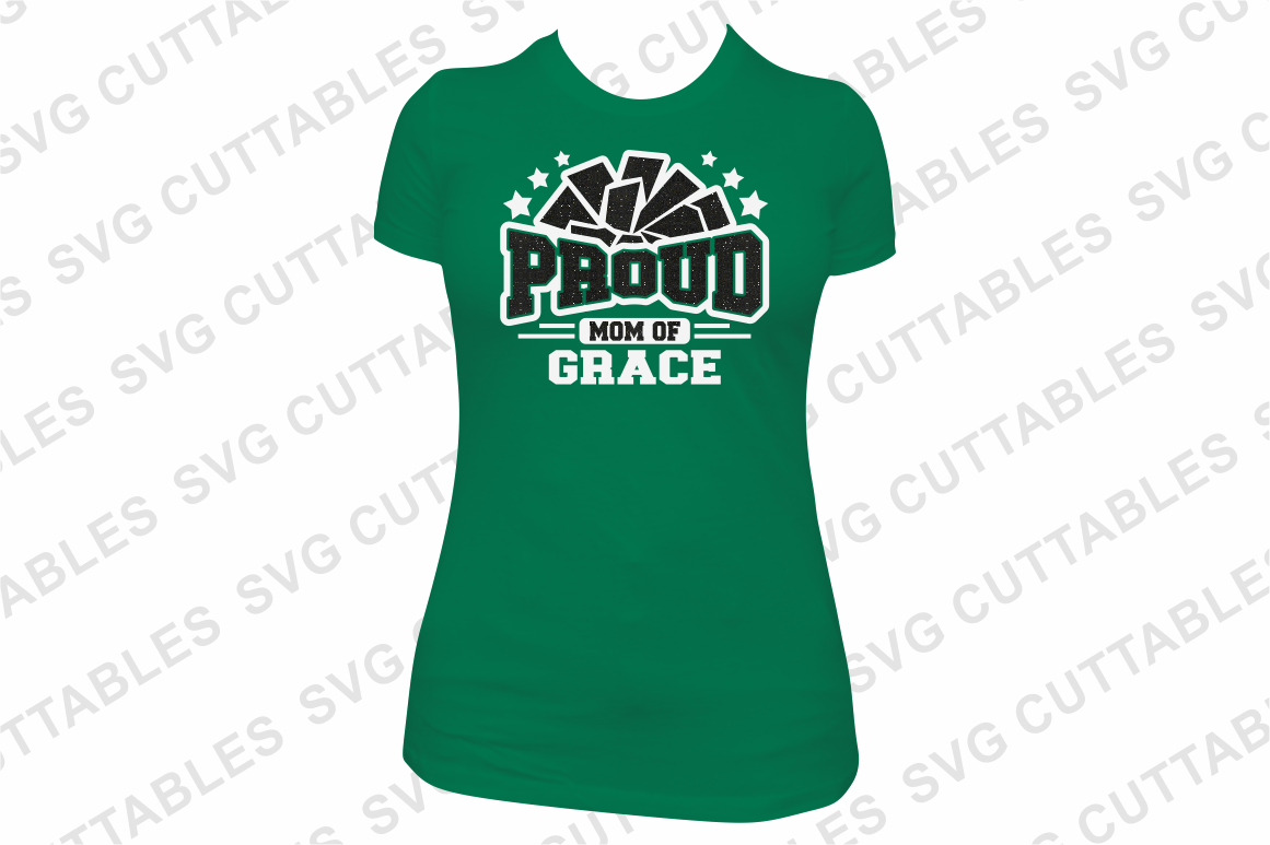 Proud Cheer   SVG Cut File example image 3