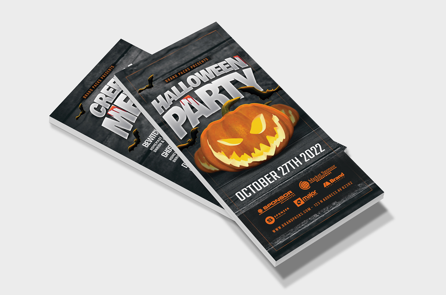 Halloween Party Flyer Template example image 10