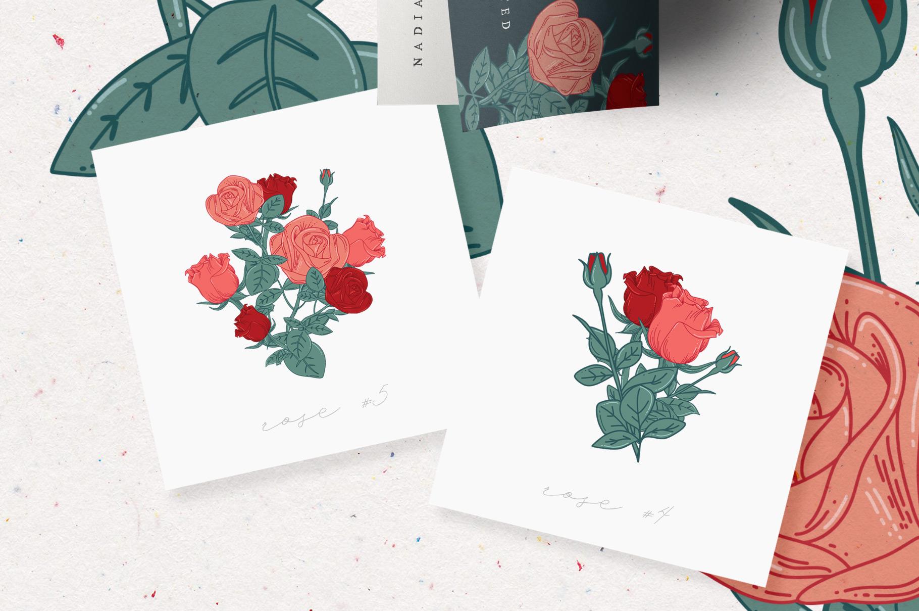 Cottage Rose Garden Pattern Set example image 3