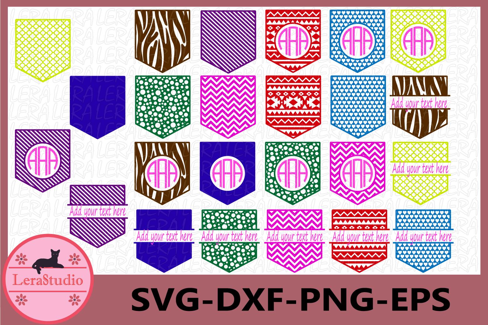 Shirt Pocket Monogram Frames SVG, Shirt Pocket Svg example image 1
