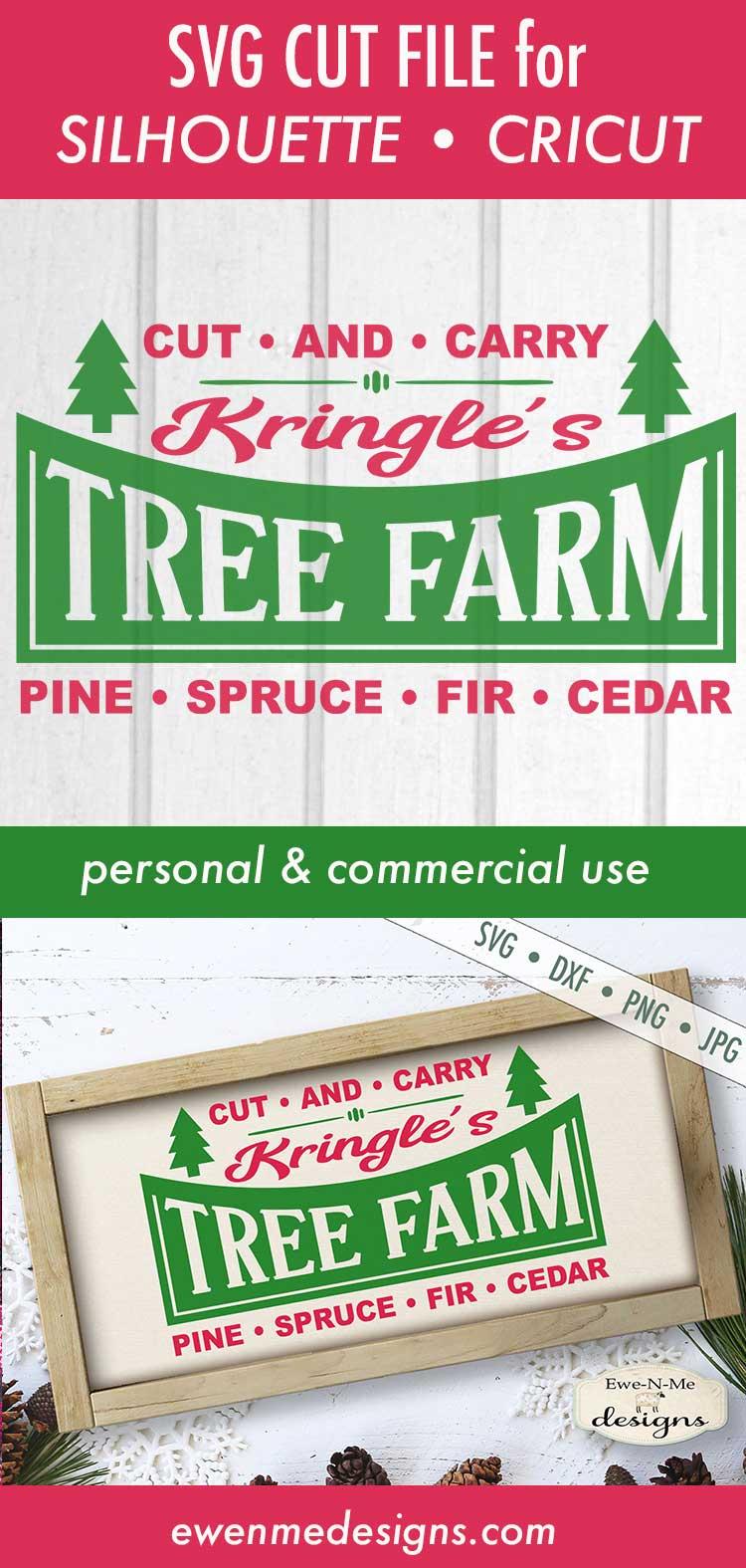 Kringles Tree Farm - Christmas - Retro Christmas - SVG DXF example image 3
