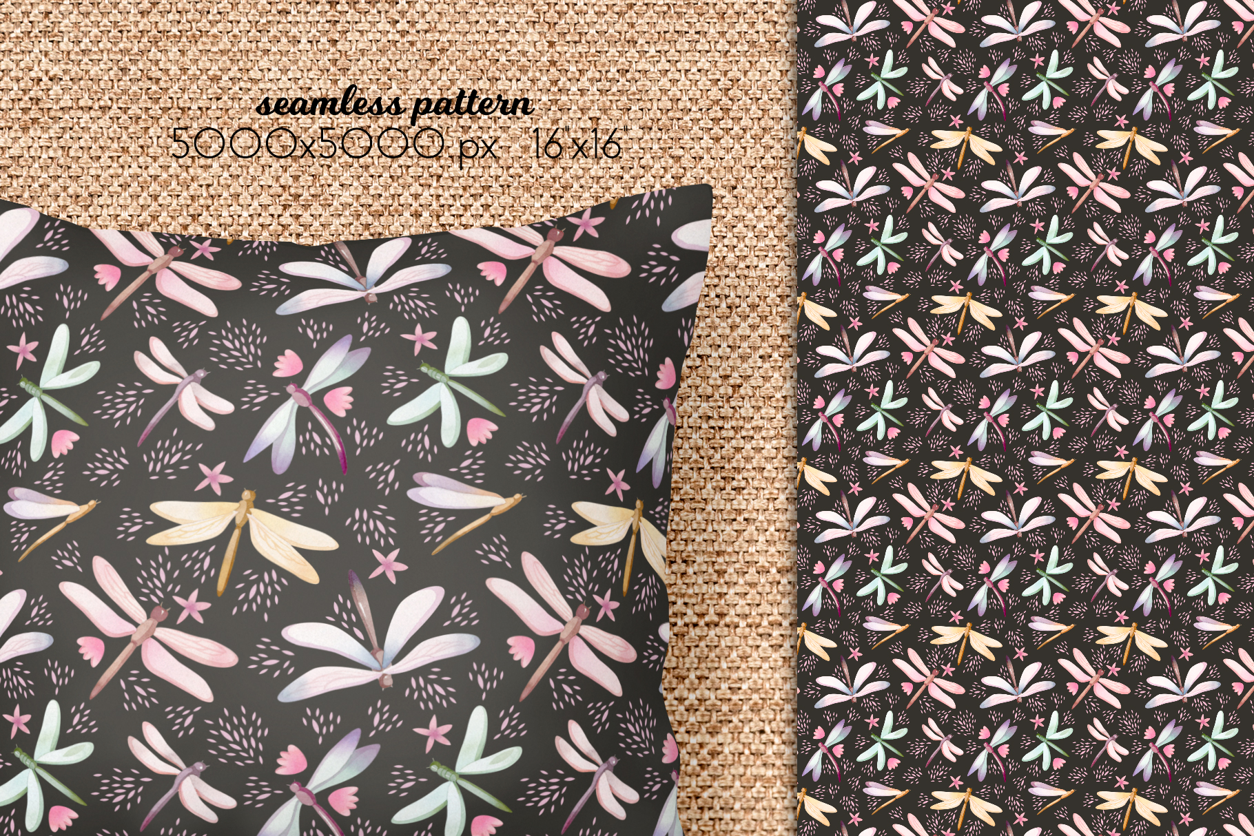 Butterflies and Dragonflies Patterns Collection example image 11