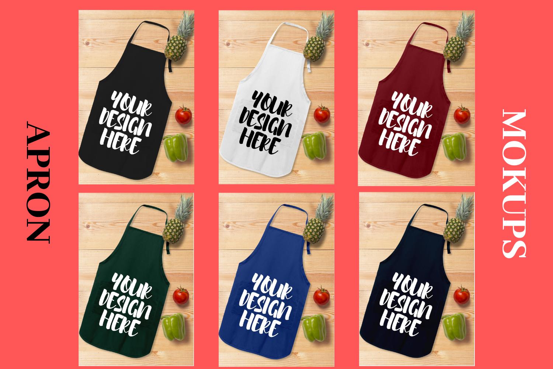 Apron Mock Ups Bundle With Kitchen Theme - 6 example image 1