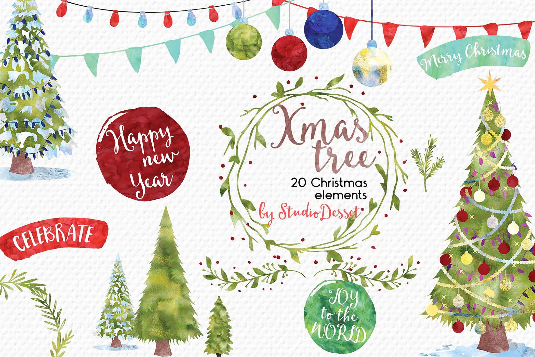 Christmas Bundle of Illustrations example image 7