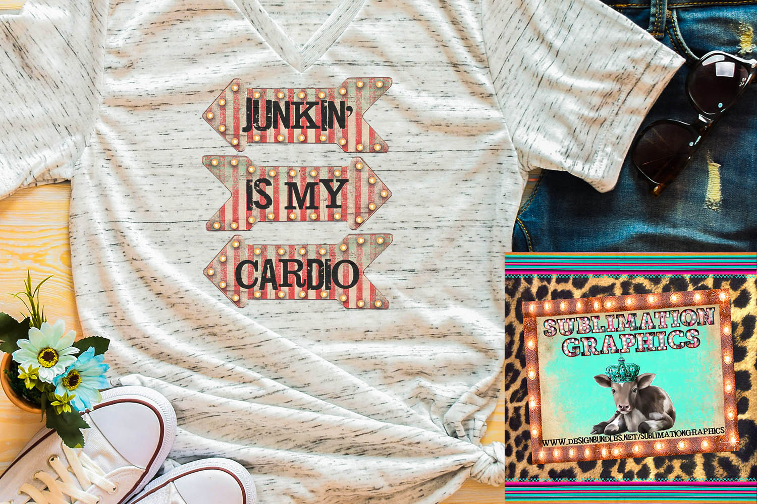 Junkin' Is My Cardio Sublimation Digital Download example image 1
