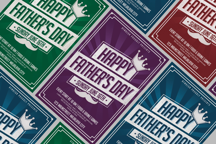 Fathers Day Flyer example image 3
