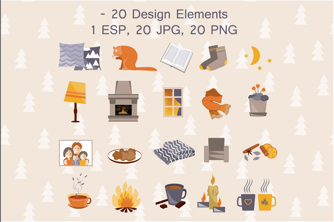 Time To Hygge. Vector Collection example image 4