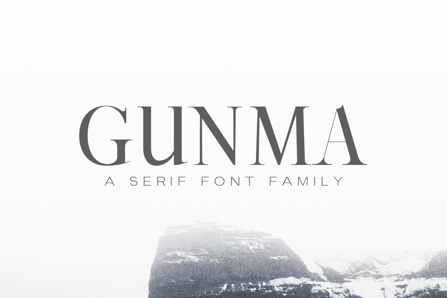 Gunma Serif Font Family Pack example image 1
