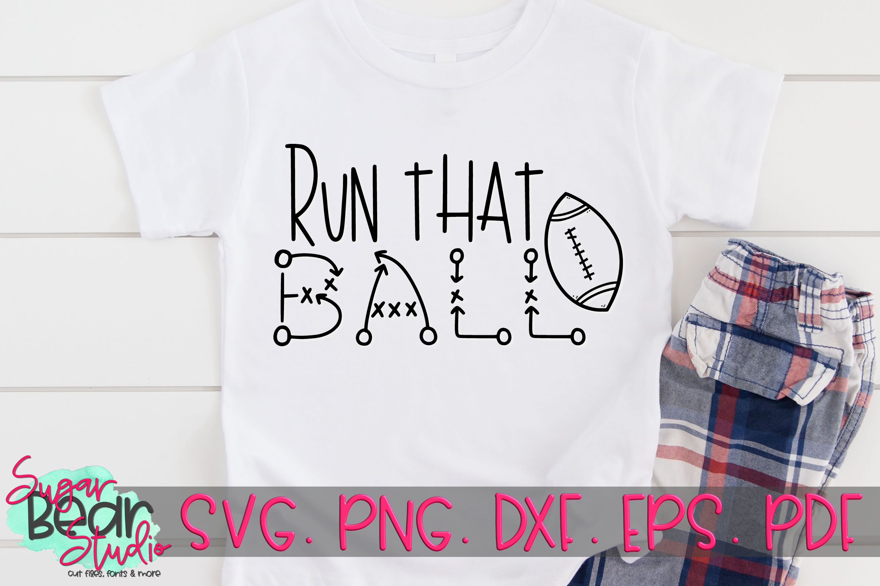 Run That Ball - A Football SVG example image 2